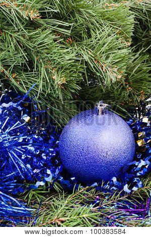 Violet Christmas Bauble, Tinsel, Xmas Tree 3
