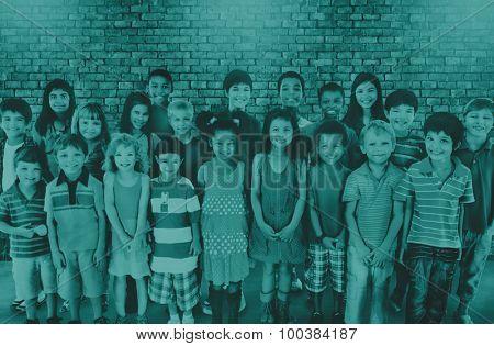Children Childhood Friends Friendship Happiness Concept