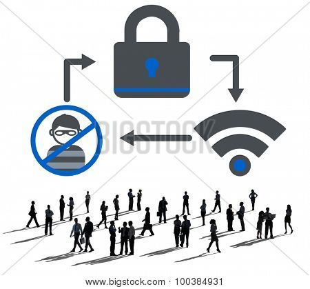 Online Security Protection Networking Privacy Concept