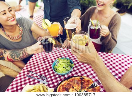 Dining Dinner Drinking Brunch Lifestyle Friendship Concept