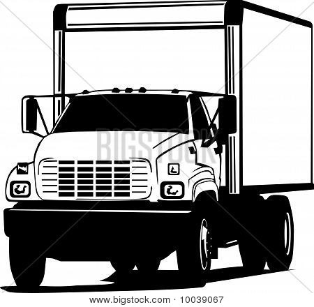 Black And White Transportation Truck