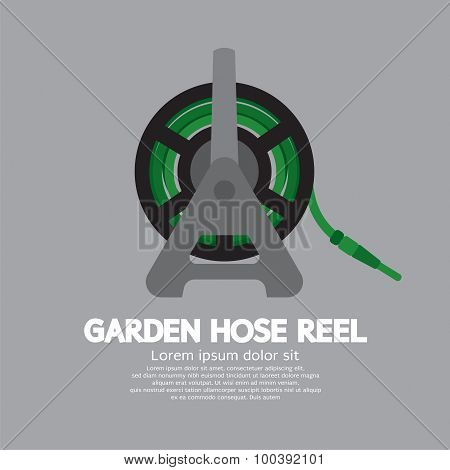 Side View Of Garden Hose Reel.