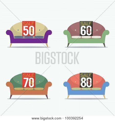 Set Of Vintage Sofas On Sale.