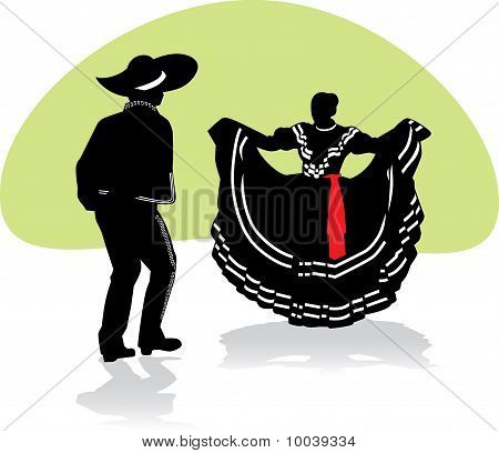 Mexican Folkloric Dance Couple