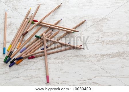 Pile Of Colored Pencils