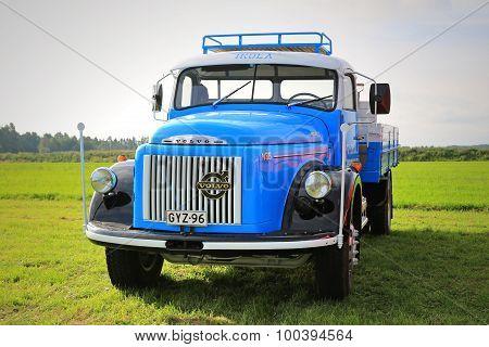 Blue Volvo N88 Pickup Truck