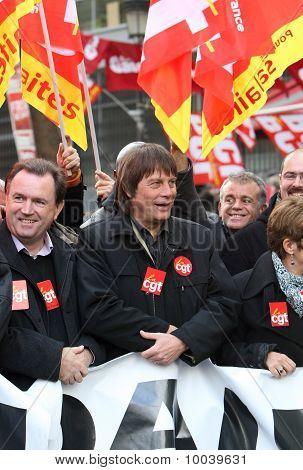 French Cgt Trade Union Leader Bernard Thibault