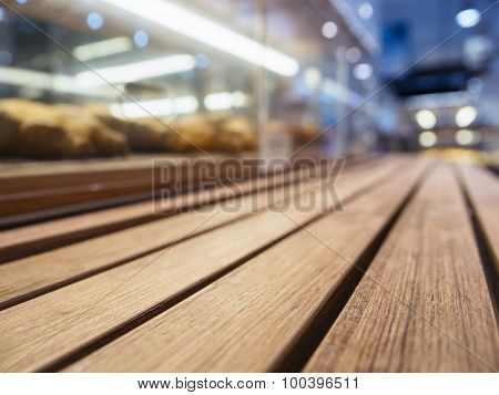 Table Top With Bakery shop Shelf Display Perspective