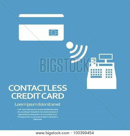 Contactless credit card payment concept. Modern technology advertisement.