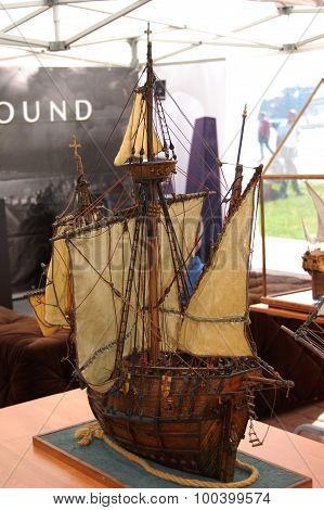 Model of ship Santa Maria.
