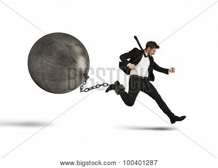 Businessman runs despite impediment