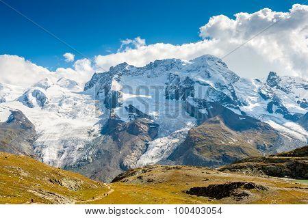 Gornergrat glacier at summer, Switzerland