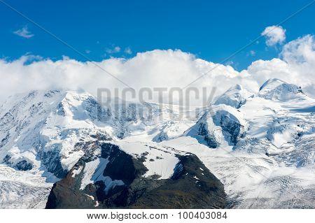 Gornergrat glacier at summer, canton Valais, Switzerland