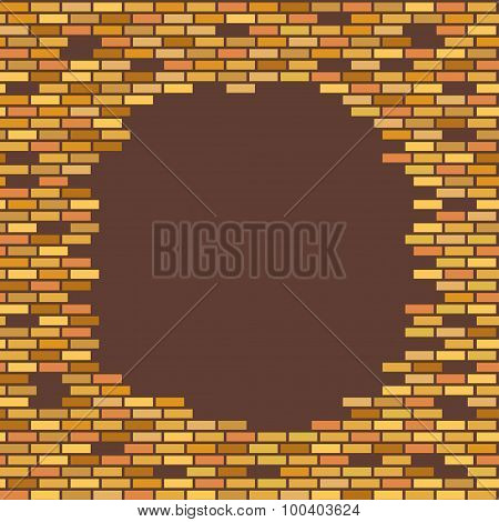 wall, brown, brick - with place for text vector illustration