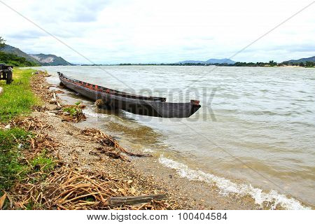 View Of Mae Klong Dam In Kanchanaburi ,thailand.