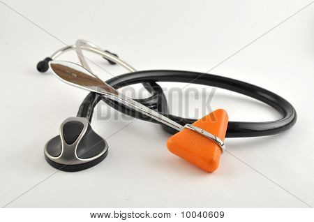 Stethescope And Reflex Hammer