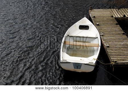 Old White Rowing Boat