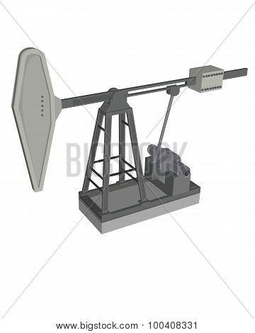 Grey Oil Pump