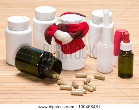 Set Of Various Cold Remedies