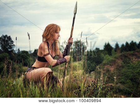 Girl Warrior  On Patrol