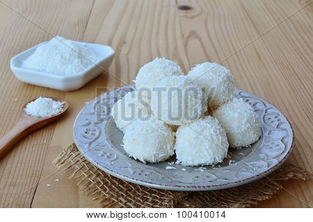 White Chocolate Candy Coconut Balls