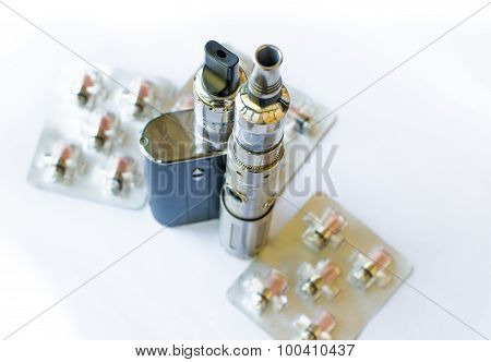 big battery steel grey e-cig resistor spare parts ** Note: Visible grain at 100%, best at smaller sizes