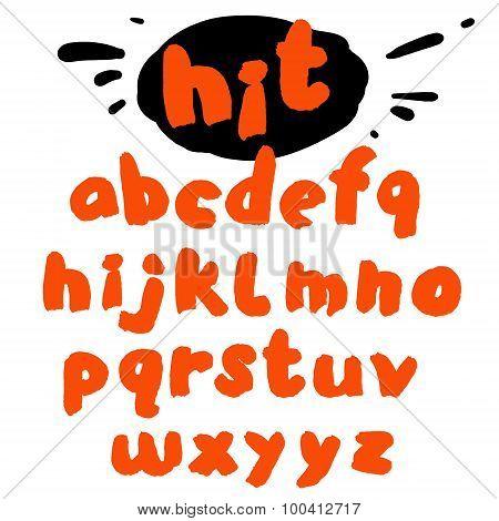 Hand drawn marker artistic font
