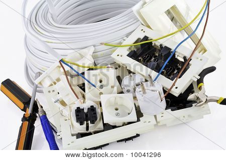 Electrical Installation Tools Background