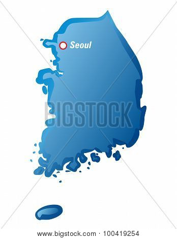 Map Of South Korea And Seoul
