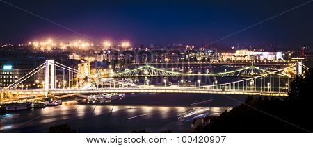 amazing night view on Danube in Budapest