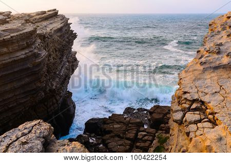 ocean coastline in Peniche, Portugal