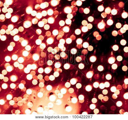 Defocused festive lights background