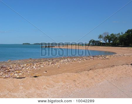 Beach and hotel at Mandorah, Darwin, Northern Territory, Australia