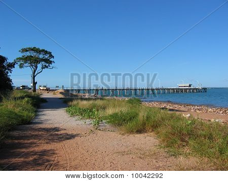Wharf at Mandorah Beach, Darwin, Northern Territory, Australia