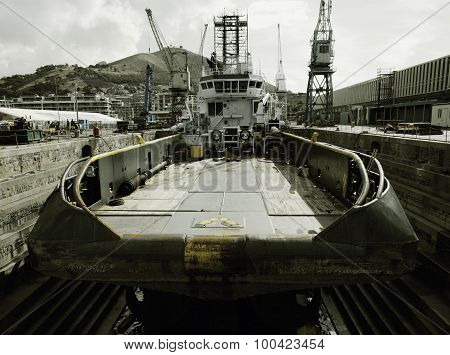 Ocean tug at dry dock