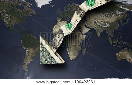 Dollar Arrow Down