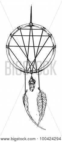 Indian dream catcher. American indians