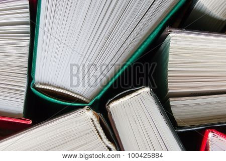 Hardcover Books Top View