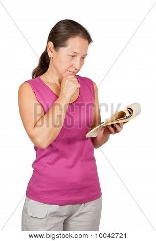 Mature Woman With Notebook