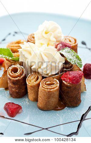Dessert - Chocolate Pancakes with Berries