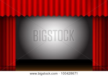 Red Curtain Frame