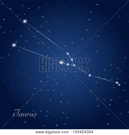 Bull constellation zodiac sign