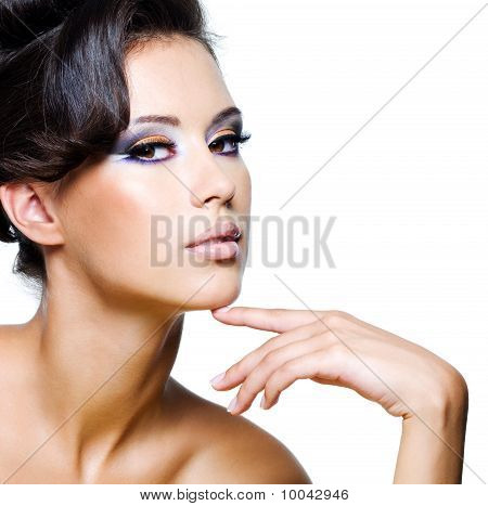 Beautiful Face Of An Young Glamour Woman