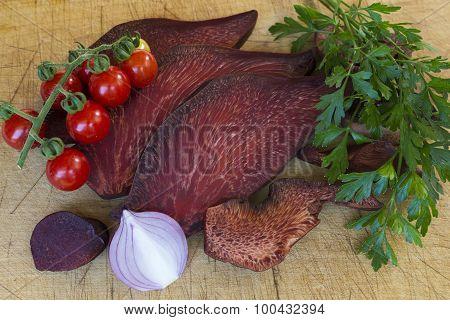 Fistulina Hepatica Mushroom