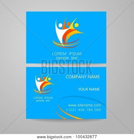 Team logo - design template. The concept of the sign company. Business presentation.