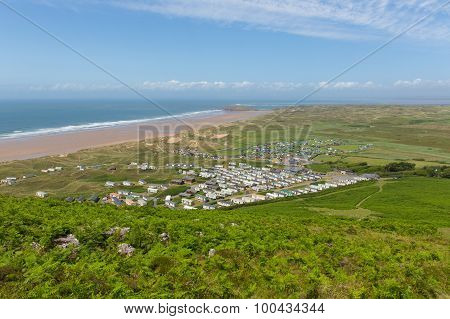 Welsh coast Rhossili The Gower South Wales UK