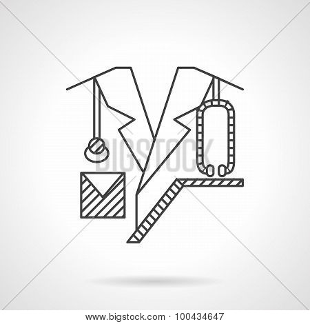 Doctor flat line vector icon.