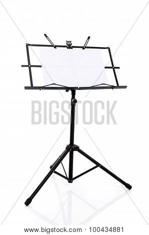 Music Stand Isolated On White Background