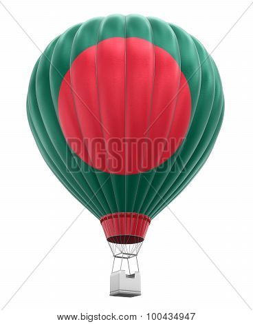 Hot Air Balloon with Bangladeshi Flag (clipping path included)