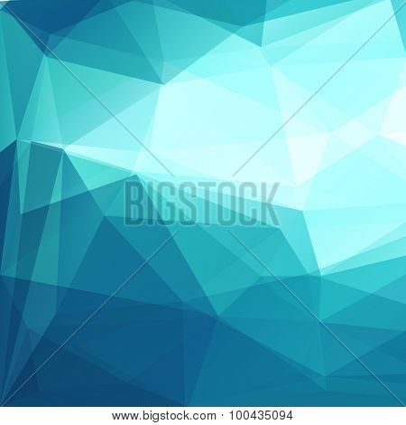 Abstract blue geometric triangles background - eps10